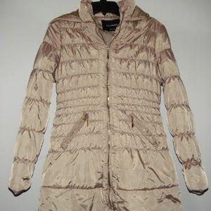 Glamsia Tan Women's Puffer Hooded Jacket M